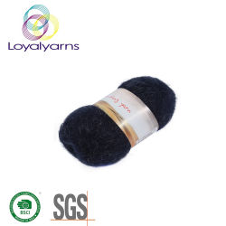 Commerce de gros doux et chaud pour le tricotage de fils mercerisés groupage et de tissage Mohair/acrylique Ly-A262