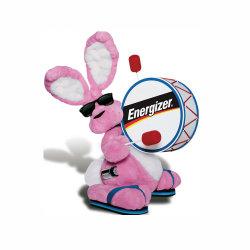 مناط أرنب لون قرنفل يقف أرنب يطرق طبع عادة يحشى لعبة