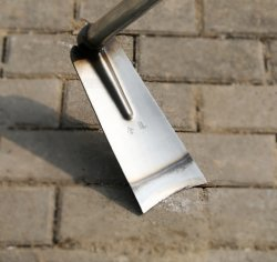 Zappa portatile in acciaio inox forgiata con semina lucida Attrezzo di Giardinaggio agricolo per la raccolta di Hoe per uomini Esg17750
