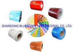 Bobina de revestimiento de acero de revestimiento de color ISO BV RAL Material de construcción bobina de acero PPGI PPGL bobina de acero galvanizado prepintada