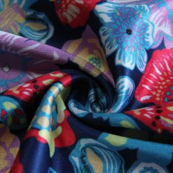 Clarear Personalizados Impressão Digital Single Jersey 90%10%Poliéster Spandex urdidura simples estrutura de tricotar maiôs/desgaste de ioga/Roupa