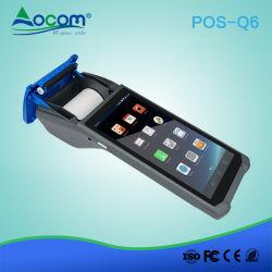 5.99 pulgadas Android POS ultraligero Handheld Terminal con lector de la Impresora Térmica de 58 mm de la cámara y altavoces NFC