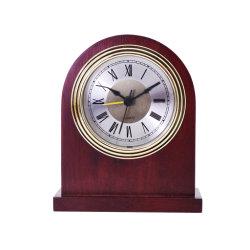Mesa de madeira Relógio de madeira sólida Despertador