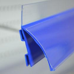 Prateleira de PVC Suporte de etiquetas para exibição de rack de supermercados