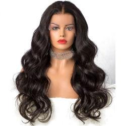 Parrucca piena svizzera dei capelli umani della parrucca della parte anteriore del merletto di estensione HD 360 brasiliani di prezzi all'ingrosso
