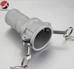 맞춤형 스테인리스 스틸 밸브 부품 파이프 소켓 위생 파이프 피팅 고압력 어댑터 Precision Lost Wax Casting Camlock 커넥터 빠른 연결 커플링