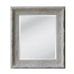 Châssis en bois sculpté blanc Vintage miroir décoration murale