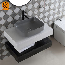 Het acryl Kabinet van de Badkamers van het Kabinet van de Badkamers van de Steen Kleine met Spiegel