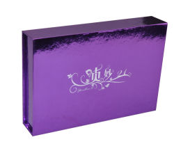 Silver Boîte cadeau de papier aluminium/boîte de produit de soins de santé/cas cosmétiques