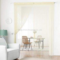 Los paneles de cortinas de cadena de tejido de poliéster densa cortina de flecos separador de ambientes para la decoración de ventana de la puerta