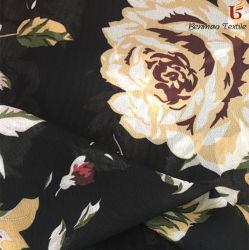 75D / 100d imprimés en mousseline robe en mousseline/ Tissu pour