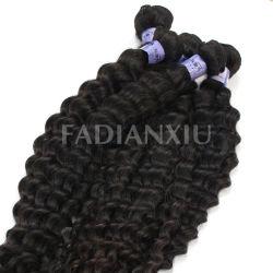 Extension de cheveux Brésilien noble Queens/ Deep Wave Tissage de cheveux