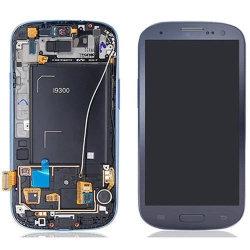 Écran tactile LCD de remplacement avec le châssis pour Samsung S3