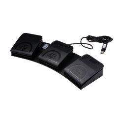 Tres de Control de pedal interruptor de pie USB Teclas de método abreviado personalizado