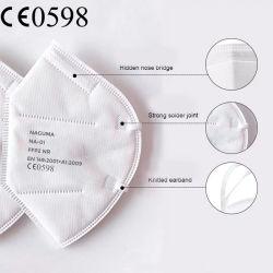 Commercio all'ingrosso di riserva del rifornimento medico di offerta 4 maschera di protezione protettiva a gettare di modo FFP2 della polvere di strato