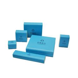 Personnalisé bleu coffret à bijoux en plastique en cuir de pu définir l'emballage