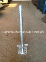 Elektrisch galvaniseer de Regelbare Stevige Basis van de Hefboom van de Schroef voor de Steiger van de Bouw