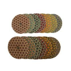 Herramientas de Diamante en seco de resina de las pastillas para pulir mármol piedra