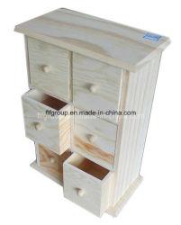 Antigüedades personalizado de estilo europeo de la esquina de almacenamiento de pequeño gabinete de madera