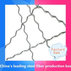 Micro fibre d'acier ondulée couché en laiton