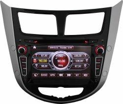 مشغل أقراص DVD تلقائي لـ Hyundai Verna/2011-2012 Accent/Solaris مع BT، تلفزيون، iPod (TS7258)