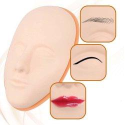 品質のシリコーン5Dの顔の入れ墨のトレーニングヘッド常置構成のリップの眉毛の入れ墨の皮のマネキンヘッド