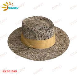 Whollow سترو قبعة عالية الجودة لشمس الصيف النسائية قبعة القش الخاصة بالحماية من التظليل والأشعة فوق البنفسجية