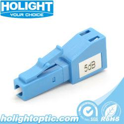 LC/UPC de modo único Plug-in del atenuador de fibra óptica fija, macho/hembra