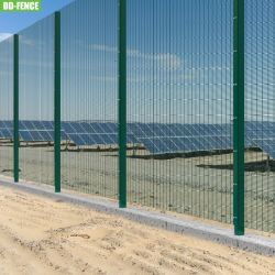 BS1722-14 Grün Schwarz Sicherheit 358 Anti klettern Zaun Schweißdraht Mesh für industrielle Fabrik Telecom Energie Umspannwerk