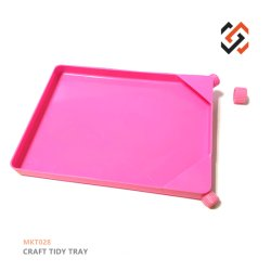 Herramientas de joyería artesanal de color rosa bandeja ordenadas Mkt028 Bandeja de embudo de plástico