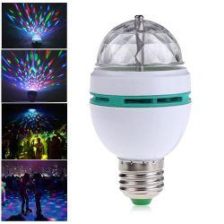 Linli E27 3 Вт цвет RGB LED лампа вращающегося диско, этапе диско лампы шаровой опоры рычага подвески