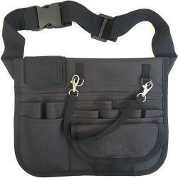 Multi sacchetto medico impermeabile della vita del pacchetto di Fanny del piedino di disegno semplice dello scompartimento con il supporto dello stetoscopio ed il supporto di nastro per le infermiere
