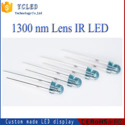 1300nm IR LED LED 3mm Lente azul H4.5mm