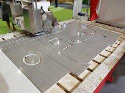 Máquinas Hualong Itália programar o software Hknc-500 5 Axis Ponte de CNC Pedra de Serra para corte de mármore, granito, Quartzo Bancada de cozinha fazendo a máquina