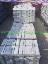 99,995 % de la SGS approuvé prix d'usine Shg lingot de zinc pur avec une haute qualité