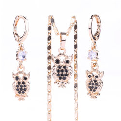 Fashion Female Gift 18K Gold Plated CZ Crystal Jewelry Sets Voor vrouwen