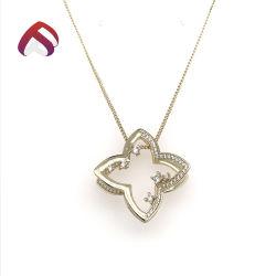 新しい方法925純銀製の宝石類Flower CZ&#160のペンダント;