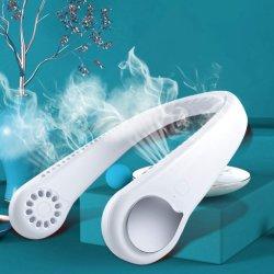 2020 최신 판매 머리 손상 Bladeless 전기 목 USB 팬 재충전용 USB 거는 공기 냉각 스포츠 잎이 없는 목 팬 없음