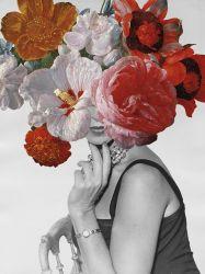 Photo sur toile fleurs Lady Art Peintures d'huile de beauté. Mur de photos pour la décoration d'Ol-2007126taille 30X40 pouces