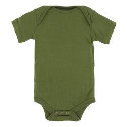 95 % Бамбук 5% спандекс мягкий охлаждения малыша короткие втулки из одного куска Sleepwear зеленый