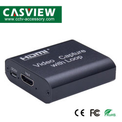 Captura de vídeo placa com loop de vídeo streaming de Saída da Placa de Vhs Capture USB 2.0 Gravador de cartões