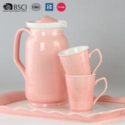 Haut de marbre a pris fin en céramique Café Tasse de thé Pot défini pour l'utilisation de la famille