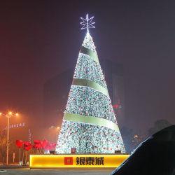 タウンスクエアの屋外大型 LED 照明クリスマスツリーファクトリー 装飾