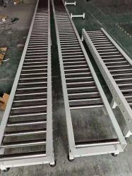 Transportband voor machines in de fabriek met rollen