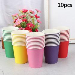 10PCS 색깔 처분할 수 있는 컵 수공지는 유치원 DIY 로고 인쇄를 가진 Handmade 물자 가구 커피 잔을 받아 넣는다