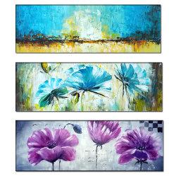 La moderna 100% de aceite de Flor Hand-Painted pintura lienzo