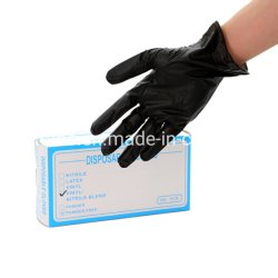 Gants en nitrile jetables de la Chine Le commerce de gros Bleu Noir Rose Poudre libre gants en vinyle de nitrile synthétique de la main les gants de travail de la sécurité de l'examen en vinyle de gants en nitrile