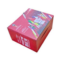 도매 주문 와인 푸드 티 마분지 포장 박스 컬러 프린팅 플라스틱 포장 상자 표시 창