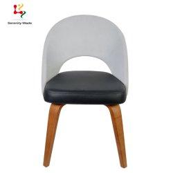 뒤를 가진 호텔 대중음식점 의자 PU에 의하여 덮개를 씌우는 목제 기본적인 식사 의자를 막는 도매 색깔