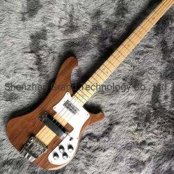 Custom 4 cadeias de madeira de nogueira Maple Fingerboard pescoço através do corpo Electric Bass Guitar